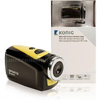Extrém sport és akciókamera vízálló védőtokkal, König AC100