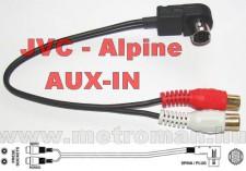 AUX - IN csatlakozó Alpine - JVC autórádióhoz ,MP3 csatlakoztatásához