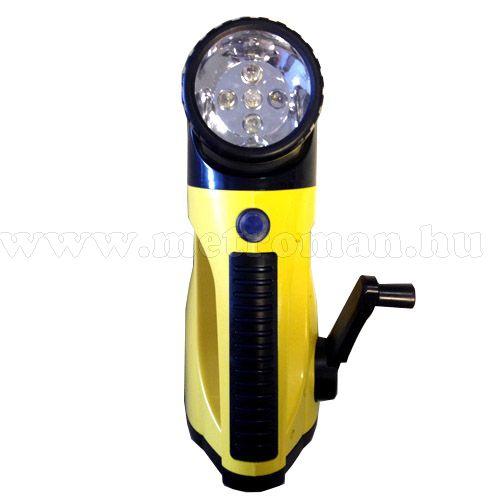 Autós tölthető és dinamós LED lámpa WS-1215