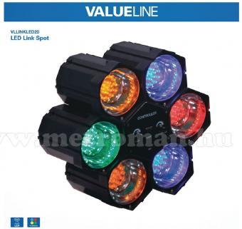 LED disco fényorgona beépített mikrofonnal LINKLED20