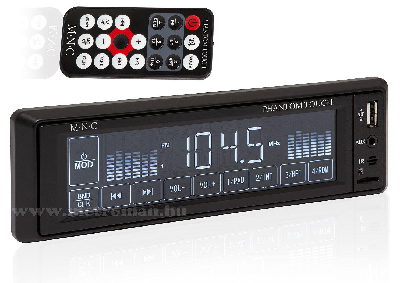 USB / SD MP3 érintőképernyős autórádió, MNC 39713