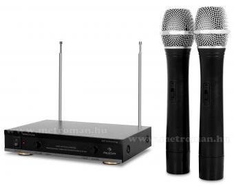 Vezeték nélküli mikrofon, 2 db kézi mikrofonnal , Auna FU-2-B