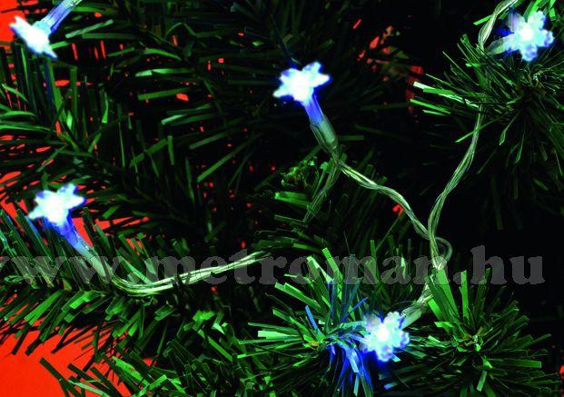 Karácsonyi, elemes, Csillag LED égősor, mini Fényfüzér, MLC10/H