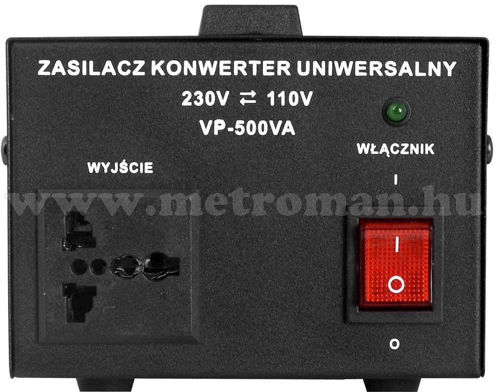 Feszültség átalakító konverter 230V/110V 500W , KN500