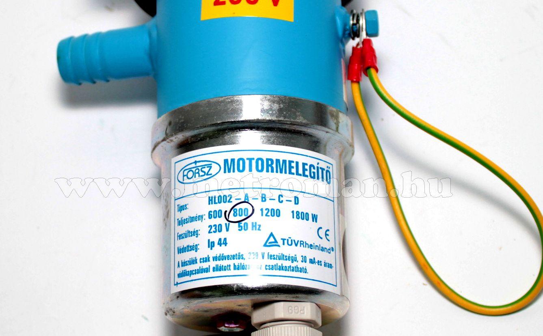 Autó motor előmelegítő, 800 Watt