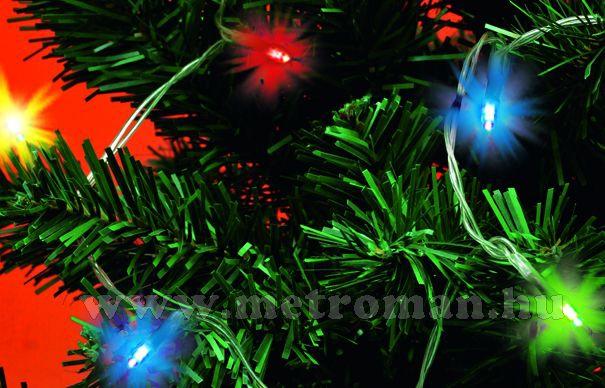 Karácsonyi, elemes LED égősor, mini Fényfüzér, MLC 30/M Színes