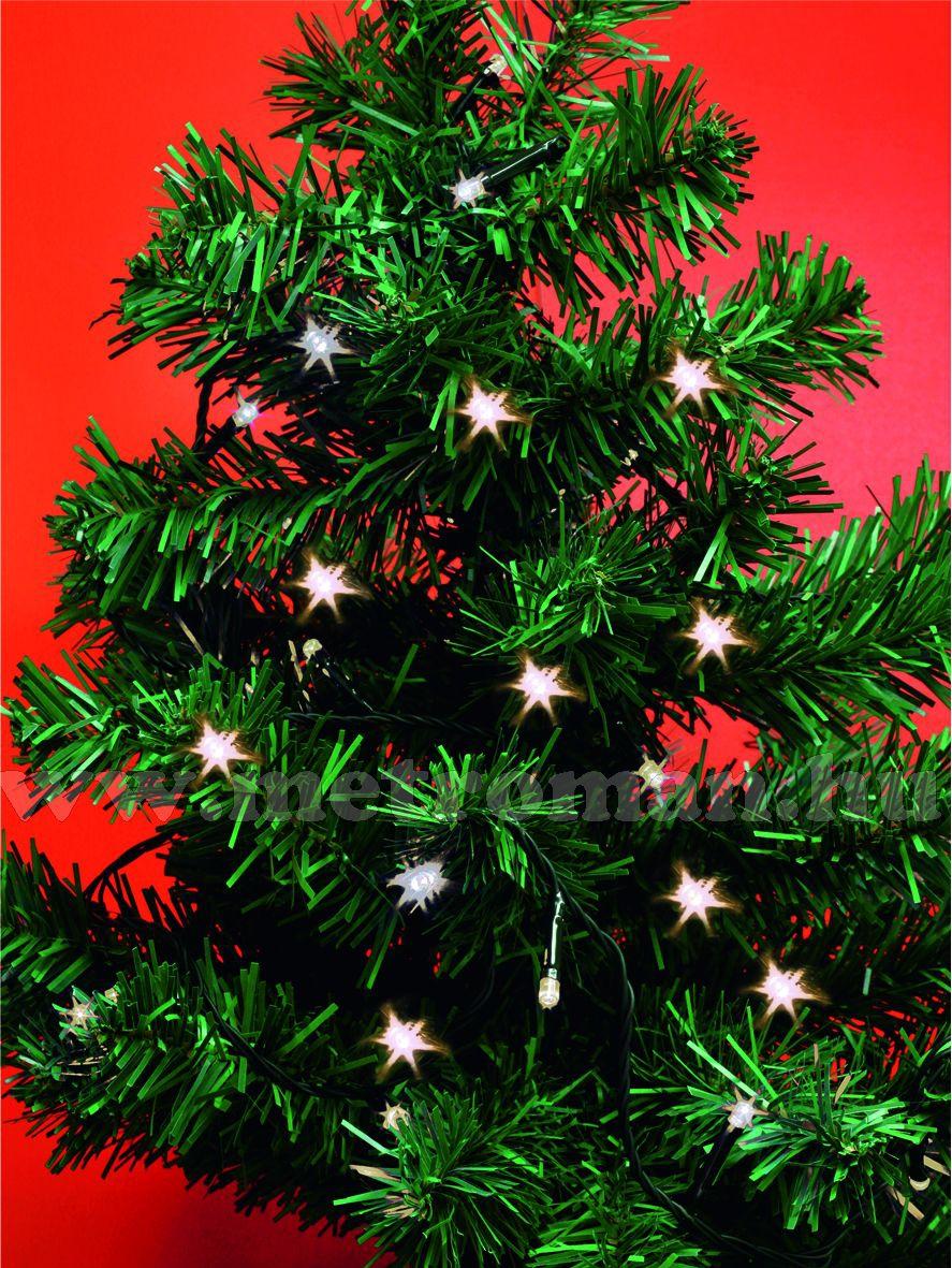 Karácsonyi, elemes LED égősor, mini Fényfüzér, MLC 30WW Meleg Fehér