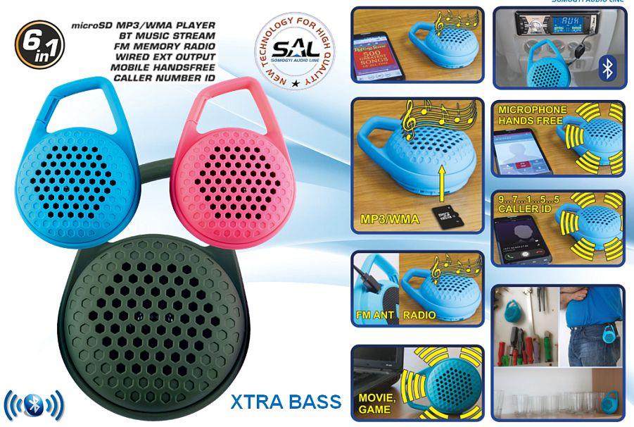 Hordozható bluetooth-os multimédia hangszóró, BT 600/GR