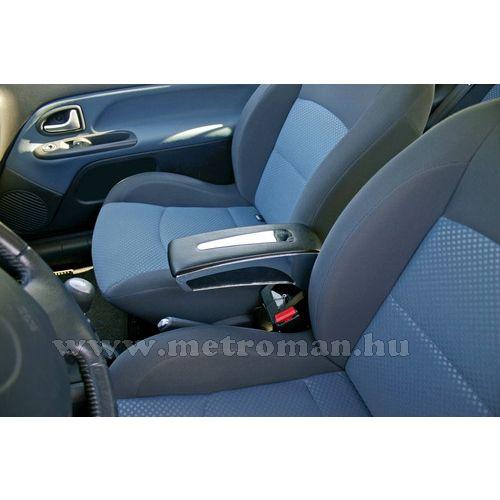 Autós könyöklő, univerzális  kartámasz, CB-292 Fekete, Króm csíkkal