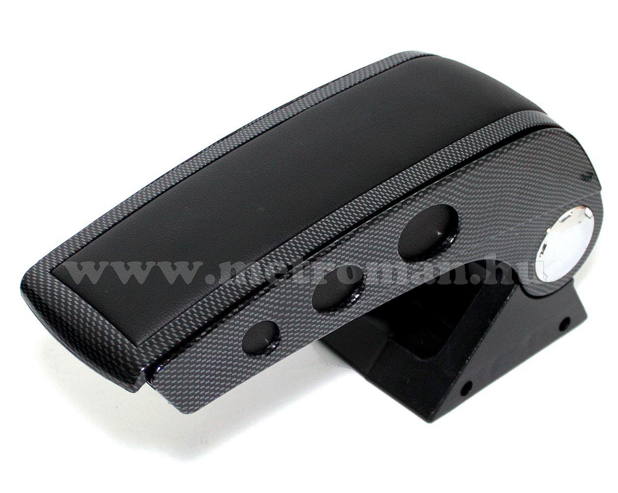 Autós könyöklő, univerzális  kartámasz, 48006ACB  Carbon - fekete