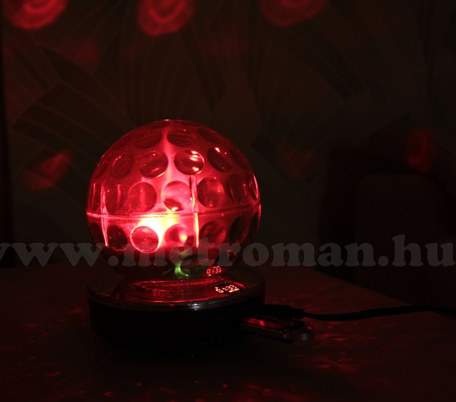 RGB LED Magic diszkó gömb és USB/SD MP3 lejátszó MLogic MD-MP3USB