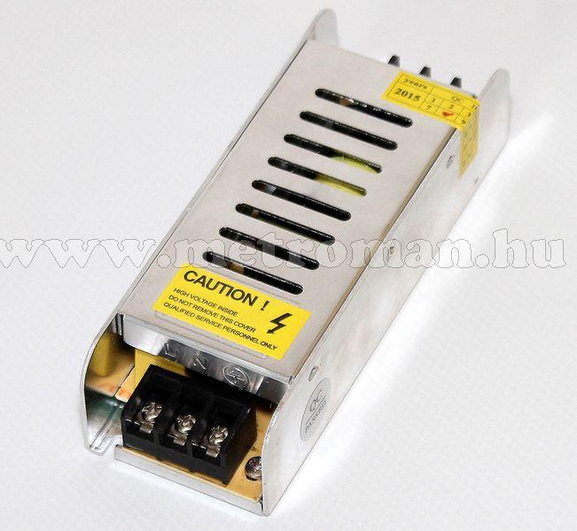 Fémházas, beépíthető, ipari tápegység 230/12 V 5 Amper