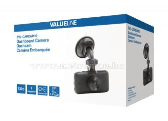 Autós menetrögzítő kamera, fekete doboz, VALUELINE SVL-CARCAM10