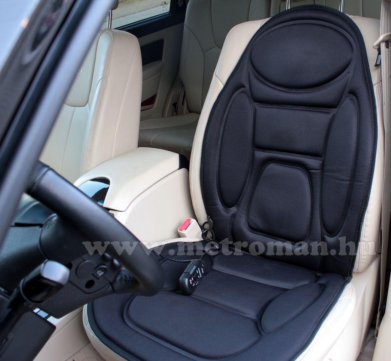 Autós masszázs ülésborító, hátmelegítő funkcióval, Bottari HOT-VIB