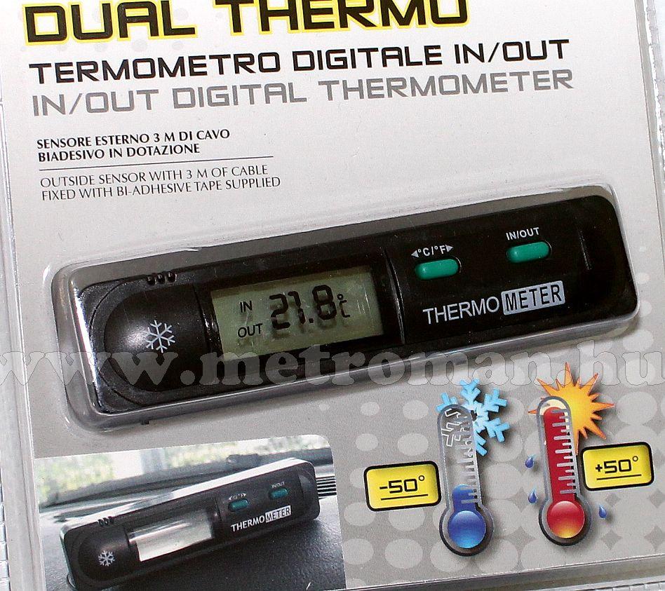 Digitális autós külső-belső hőmérő Bottari 16062