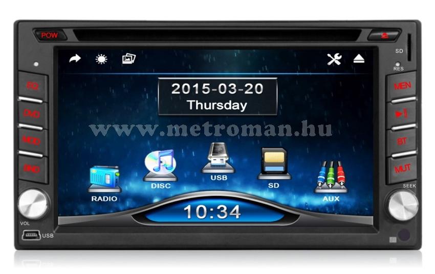 "DVD/USB/SD MP3 Multimédia autórádió, 6,2"" LCD-vel, JVJ DVD-7803B"