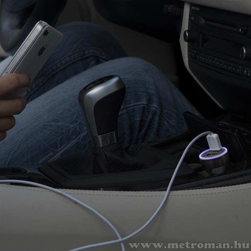 Autós 12 / 24 V-os szivargyújtó töltő 2 USB aljzattal, 55028PK