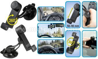 Univerzális tapadókorongos telefon és GPS navigáció autós tartó, SA 047