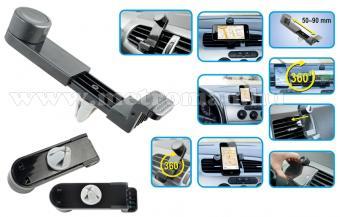 Univerzális telefon és GPS navigáció autós tartó szellőzőrácsra, SA 048