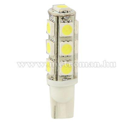 Autós LED izzó, 13 db szuperfényes 5050-es  SMD LED-del, T1013SMD5050LED