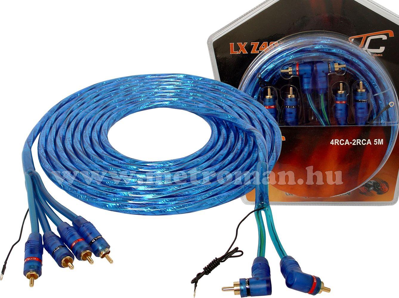 Autóhifi kábel 4RCA-2RCA 5m, Z403