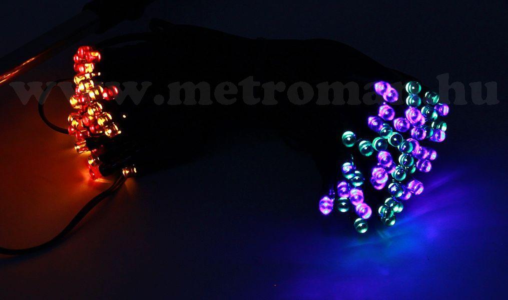Napelemes Karácsonyi LED égősor, Fényfüzér, Kültéri, UKK-7618M Színes