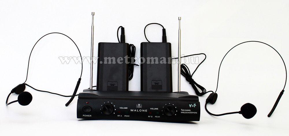 Vezeték nélküli fejmikrofon szett, Malone VHF-2 HS
