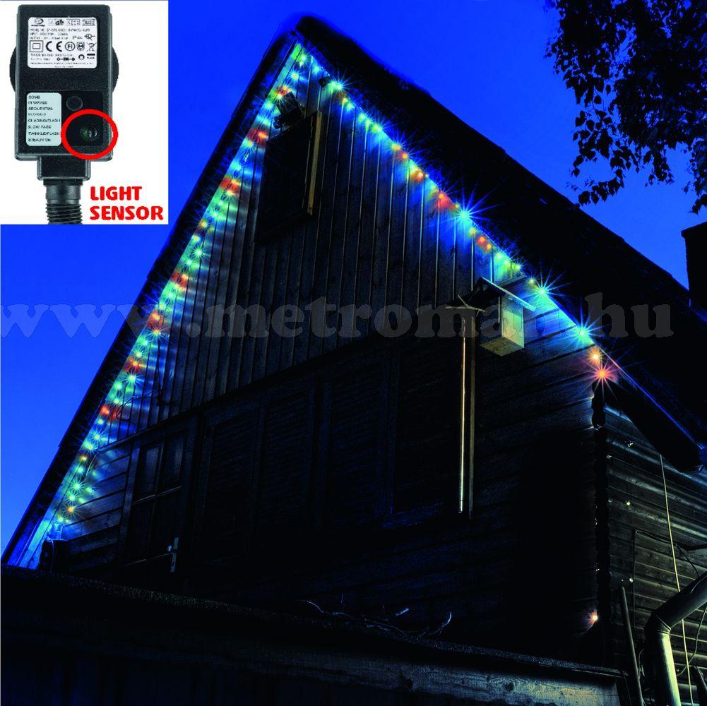 Karácsonyi kültéri LED égősor, Fényfüzér, KTL 108/M Színes
