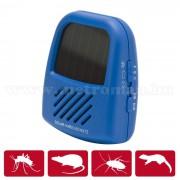 Napelemes, Elektromos ultrahangos patkány, egér, bolha, pók riasztó, Isotronic Solar 55647