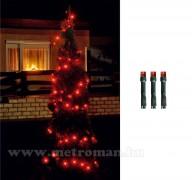 Karácsonyi, elemes LED égősor, Fényfüzér, MLC88-/RD Piros