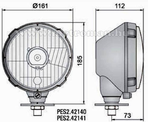 Halogén reflektor, 3 funkciós, h4, Wesem Ursus RE.16610