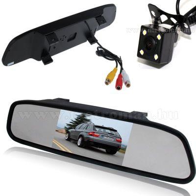 """Tolatókamera szett 4,3""""-os LCD tükör monitorral, CLM-0109-CAPS0212LED"""