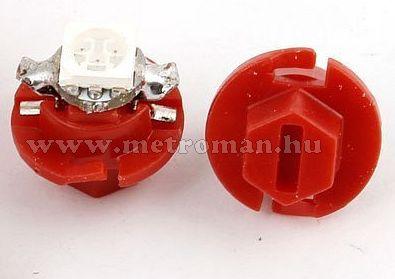 Autós műszerfal LED izzó, B8.4D Piros