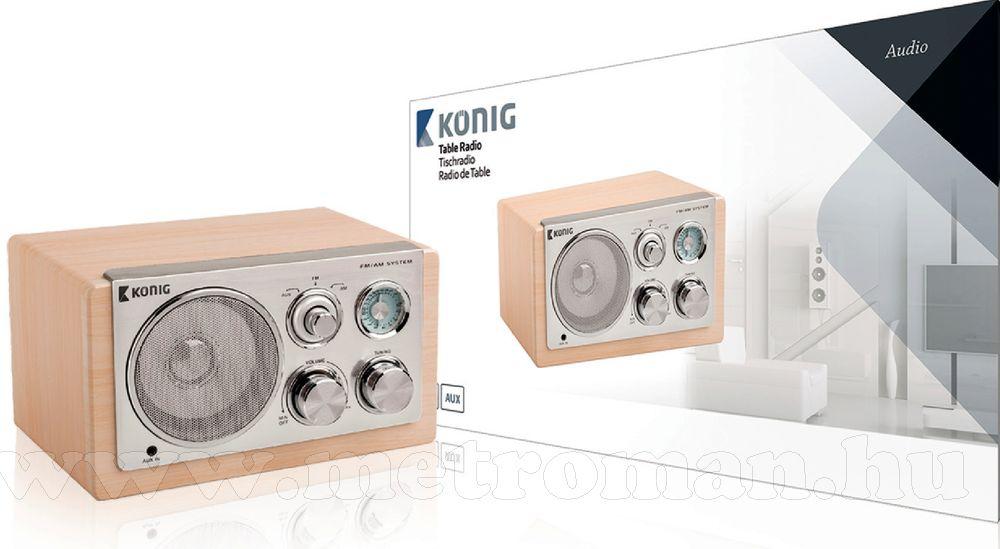 Retró asztali rádió, König HAV-TR1300