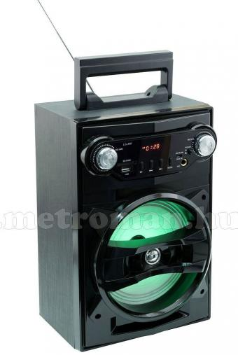 Hordozható USB/SD/MP3 lejátszó, Bluetooth Multimédia hangfal FM rádióval és Karaoke funkcióval BT 1650