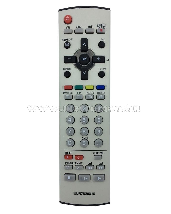 Utángyártott TV távirányító, Panasonic, EUR7628010