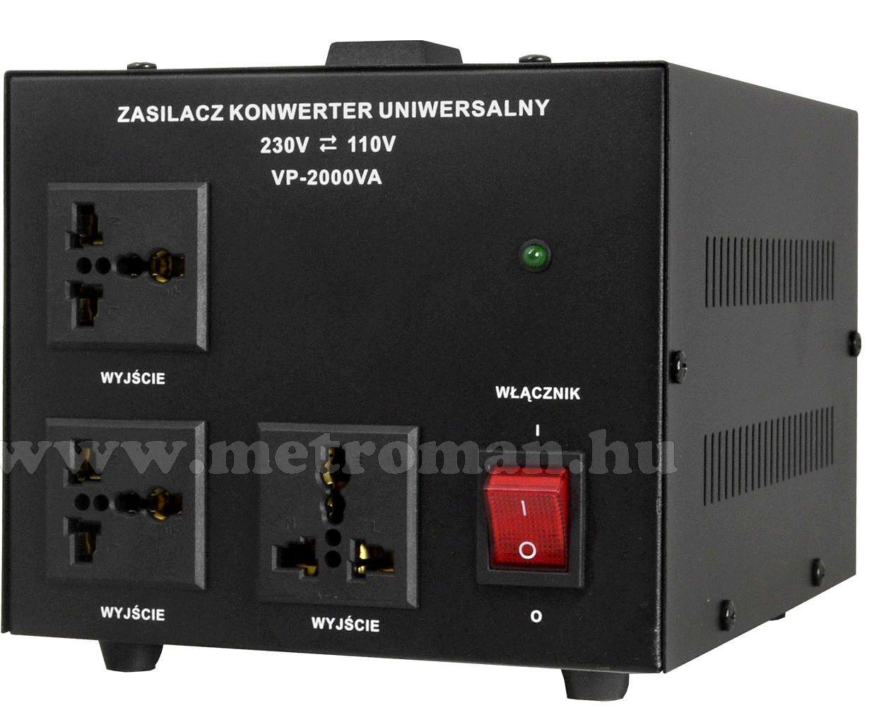 Feszültség átalakító konverter 230V/110V 2000W , KN2000