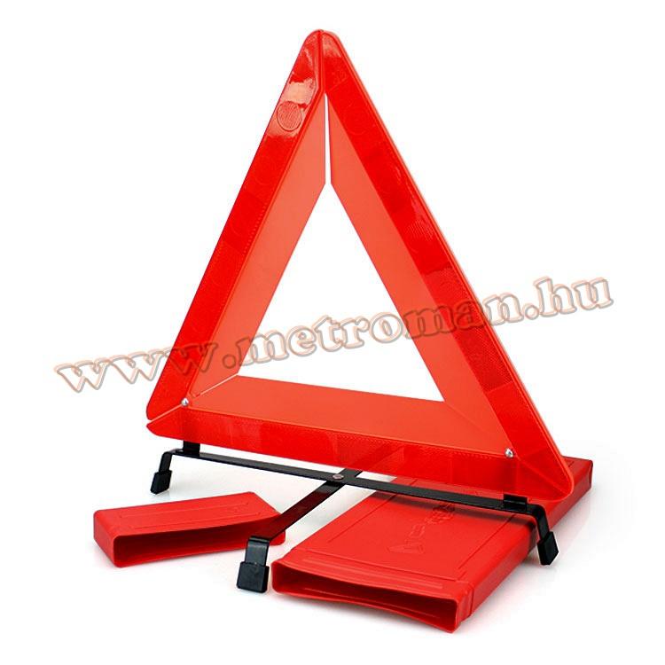 Autós elakadás jelző háromszög, E-jeles, összecsukható WT10E