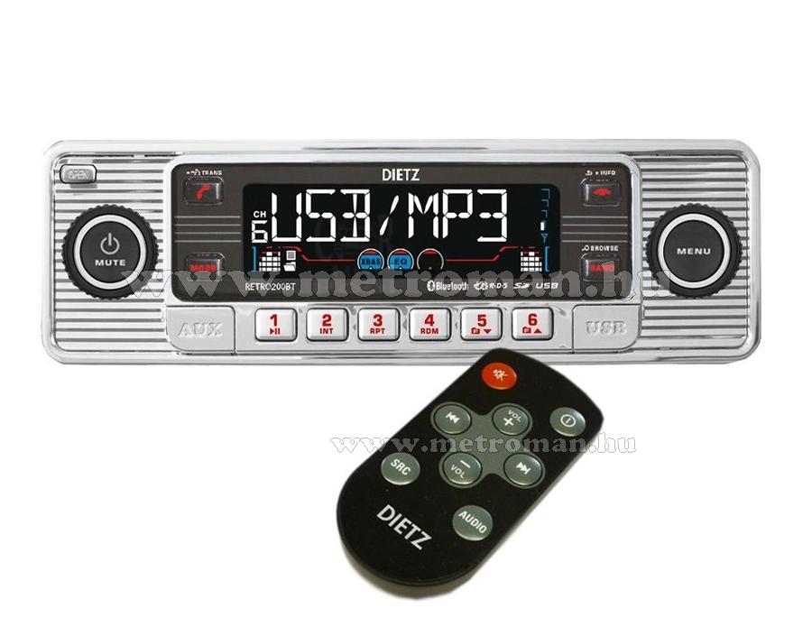 CD / MP3 / USB autórádió, Dietz Retro 200 BT
