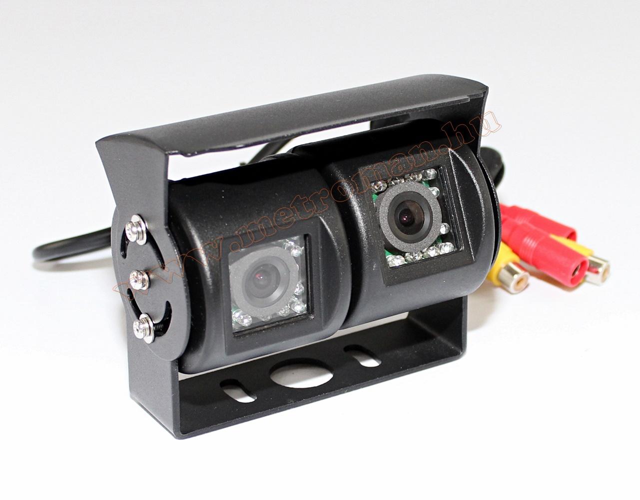 Két kamerás, fémházas tolatókamera Nvox GDB202D