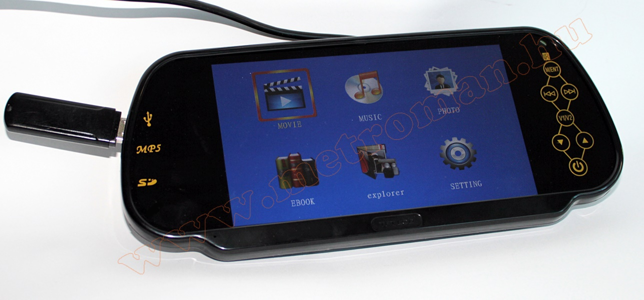 Autós USB/SD MP3/MP4/MP5, 7