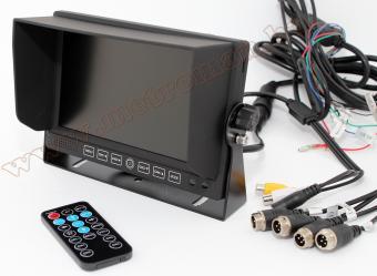"""Ipari kivitelű 7""""-os QUAD LCD monitor, beépített SD kártyás DVR video felvevővel, Nvox HM720DVR"""