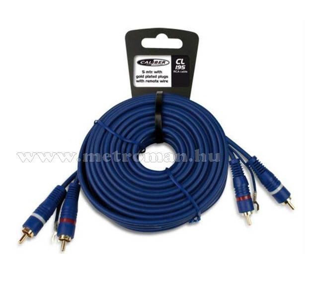 Autóhifi kábel 2RCA-2RCA 5m, Caliber CL 195