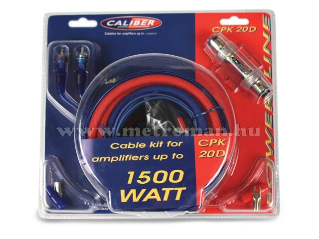 Autó Hi-Fi kábelszett, Caliber CPK 20D
