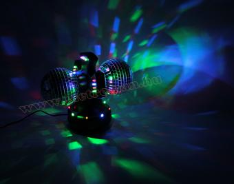 3D LED diszkó lámpa, duál diszkó gömb, DL 210
