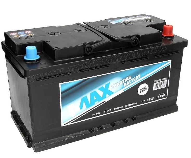 Autó akkumulátor 4MAX Ecoline 12 V / 100 Ah J+