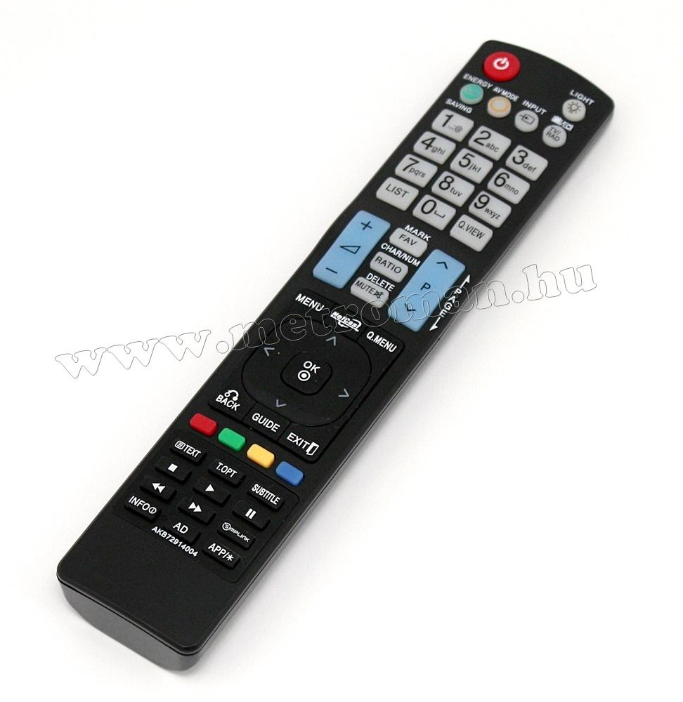 Utángyártott TV távirányító, LG AKB72914004
