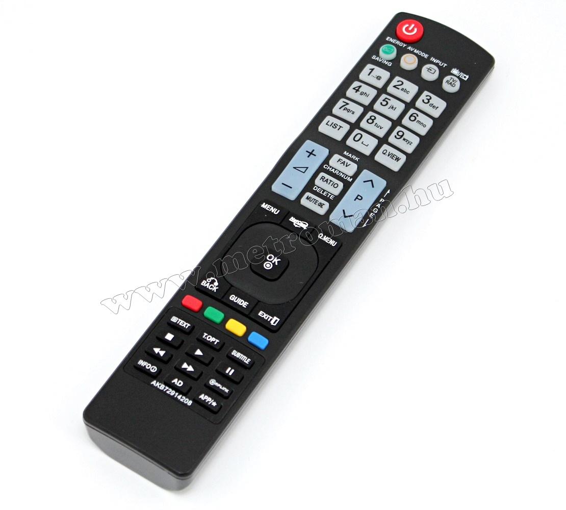 Utángyártott TV távirányító, LG AKB72914208