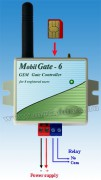 Rácsengetéssel vezérelhető GSM kapunyitó és távirányító, MobilGate-6