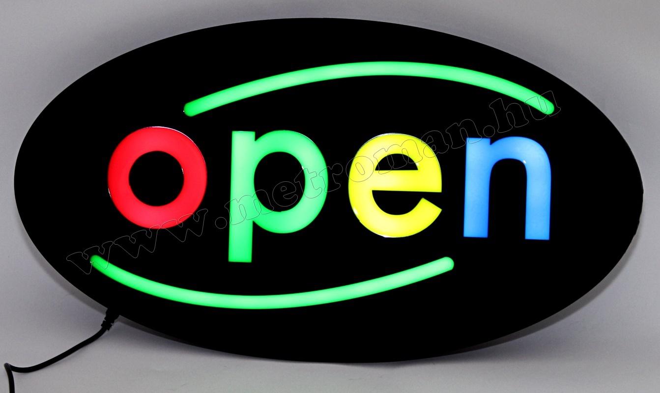 LED világító reklám tábla, OPEN SMD